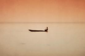 Fisherman on Lake Kariba - new edit