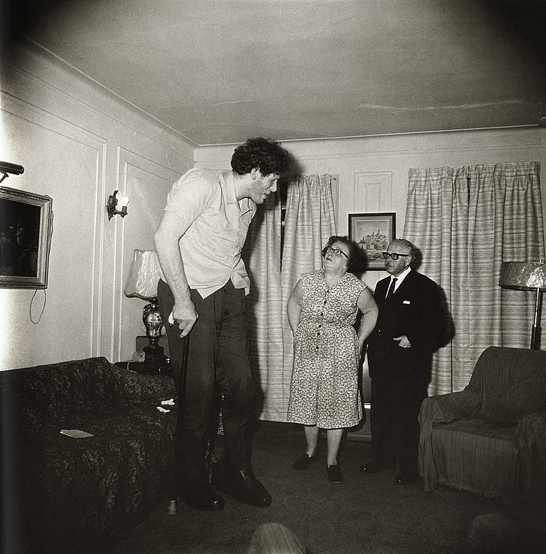A Jewish Giant Home with his Parents in the Bronx, 1970