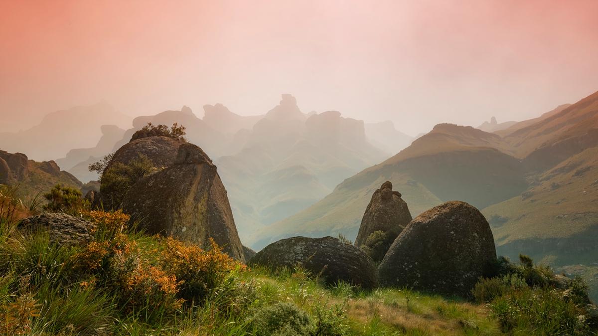 Mystical Drakensberg landscape